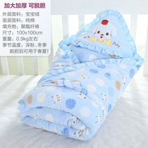 Baby holding by newborn bag by spring and autumn winter newborn baby supplies thickened warm quilt towel can take off the gall