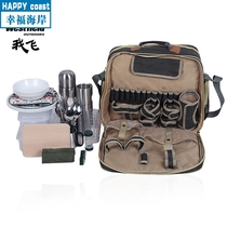 H·fan Luxury Picnic Bag Outdoor portable multifunctional multi-person tableware set insulation bag