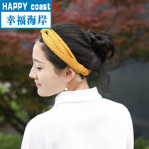 H·fan new knitted hair with elastic cotton striped makeup hair hoop fashion hair ribbon