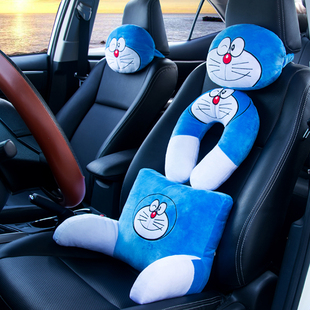 哆啦A梦卡通汽车头枕车用靠枕颈枕护颈枕车枕座椅靠垫护颈垫腰枕