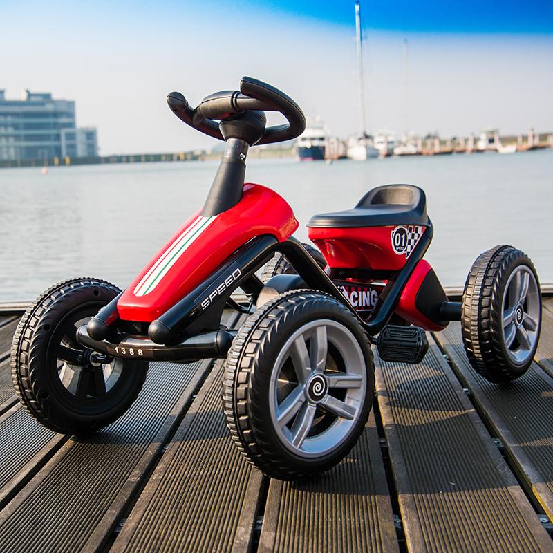 儿童卡丁车四轮脚踏自行车男女宝宝小孩可坐运动益智健身玩具童车