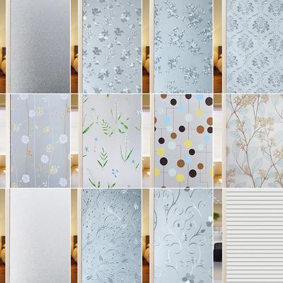 玻璃贴纸磨砂窗户透光不透明浴室卫生间防走光防窥遮光窗贴纸贴膜