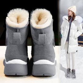 短筒雪地靴女2020新款时尚加厚保暖皮毛一体棉鞋冬季厚底运动靴子