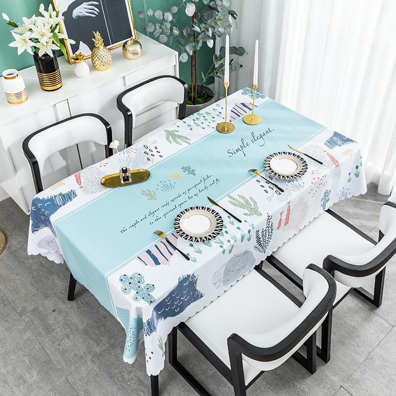 北欧餐桌布防水防油防烫免洗桌垫用后评测