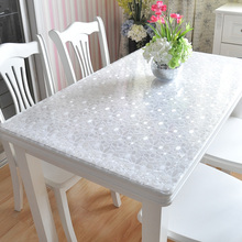 PVC waterproof and anti scalding tablecloth soft plastic glass transparent tablecloth tablecloth no washing tea table mat tablecloth