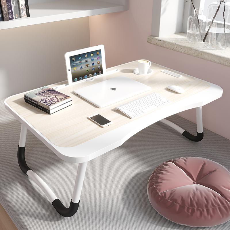 床上小桌子懒人简易卧室坐地折叠电脑桌宿舍学生学习写字家用书桌