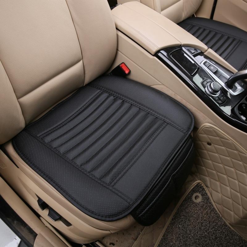 竹炭捆绑汽车坐垫单片夏季皮无靠背四季通用车垫后排三人长条座垫