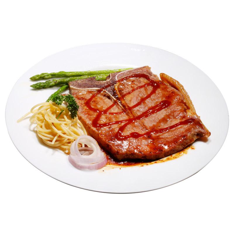 絕世 家庭牛排單片生鮮丁骨 T骨 牛排 醃製牛肉200克 送醬和黃油