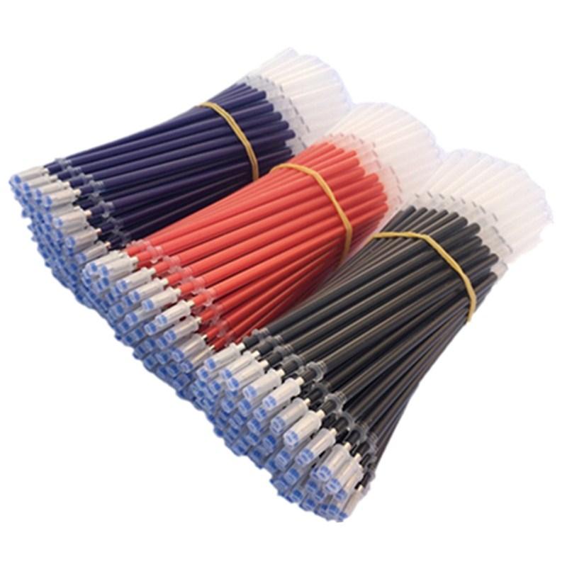 9.90元包邮中性笔芯学生用子弹头0.5全针管0.38碳素笔芯墨蓝黑红办公用包邮