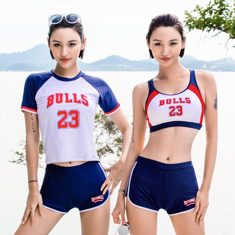 (用20元券)女三件套保守韩国ins风显瘦泳裤