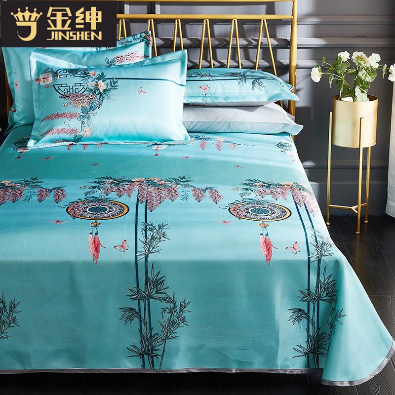 可水洗床单式1.5m床夏天席子夏季冰丝席凉席三件套1.8m床空调软席