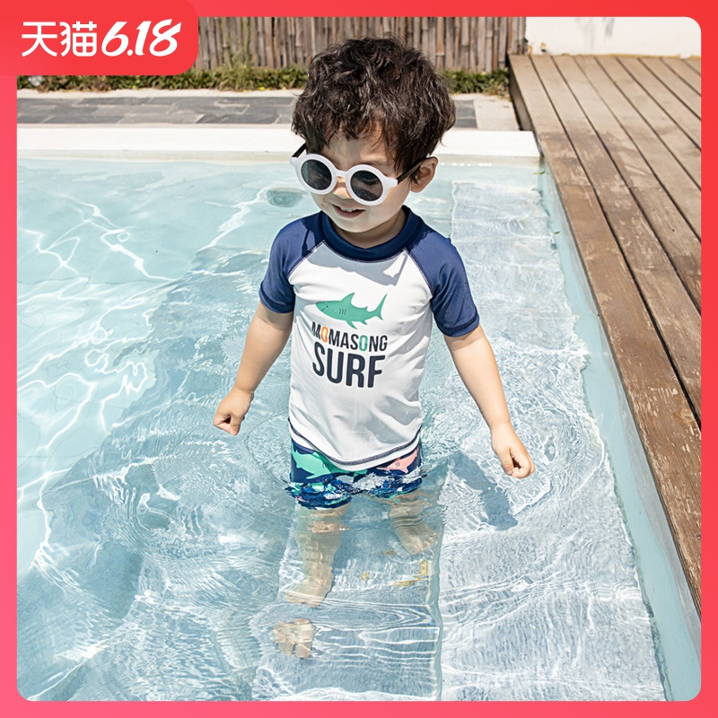 Children's swimsuits, boys' ins split sun protection, quick drying swimsuits, kids, boys, beach pants, hot springs