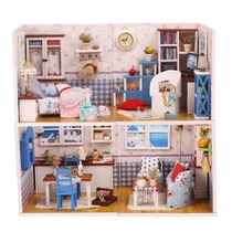 DIY Cottage Handmade Warm series House model bedroom room living room creative decoration birthday present