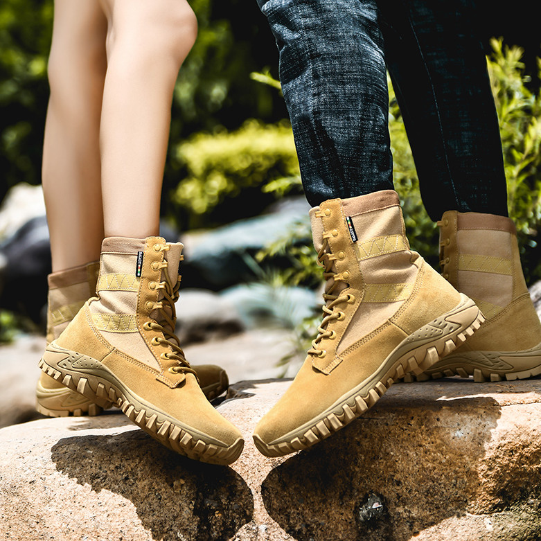 New Martin boots mens high top summer sports leisure breathable leather army combat mens boots mountaineering desert boots children