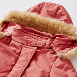 裂帛童装冬装新款连帽带毛领合体棉服女童56150111