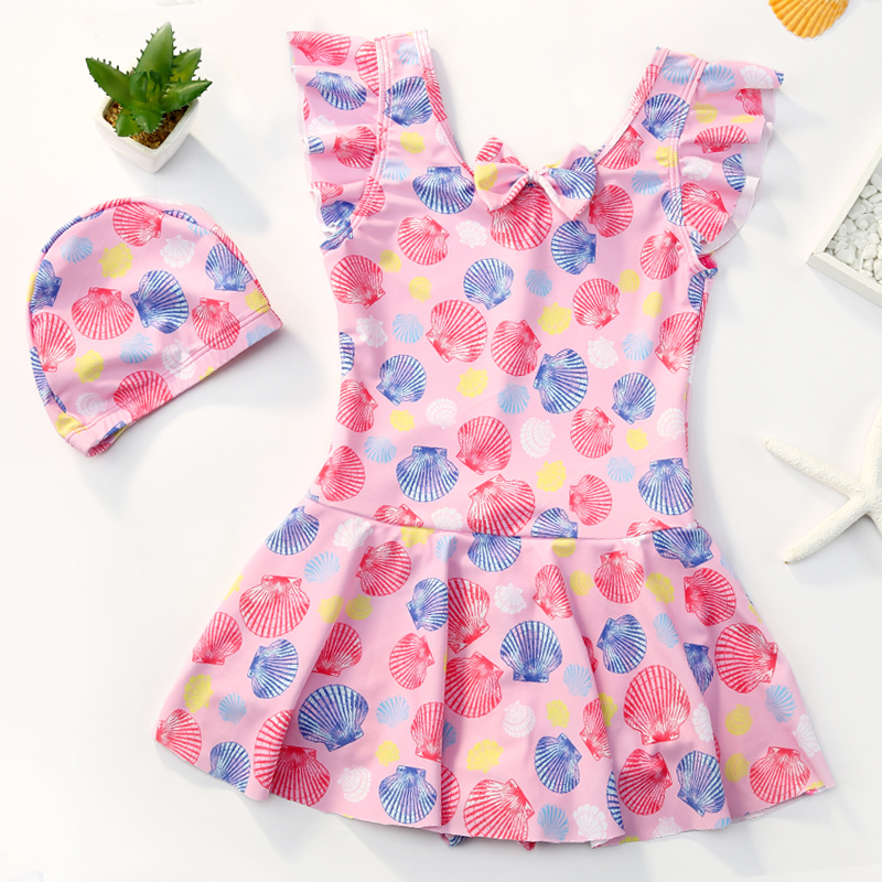 Children's swimsuits for girls and middle-aged children one piece princess skirt cute children's baby girl swimsuit