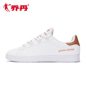 乔丹女鞋板鞋休闲鞋女2020春季新款革面轻便滑板鞋鞋子经典小白鞋