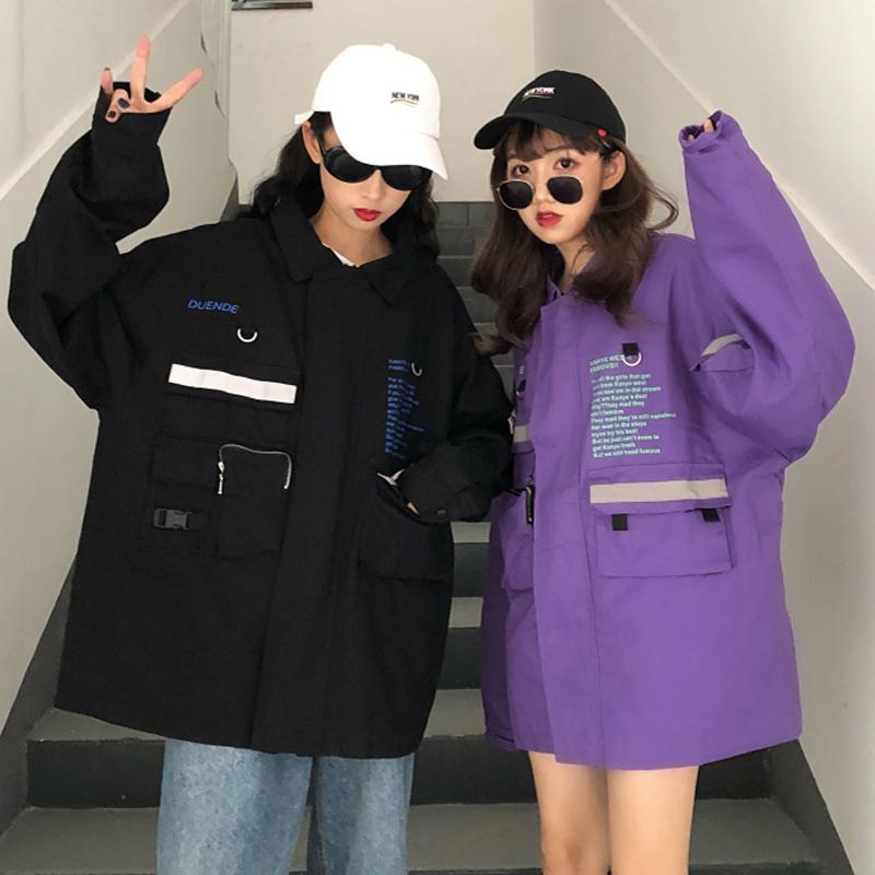 酷酷的女装霸气帅气秋装外套韩版上衣飞机服夹克潮可可里小姐店铺