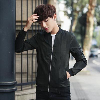 2017新款韩版夹克男士修身短款夹克外套大码潮4001-1-JK8816-P85