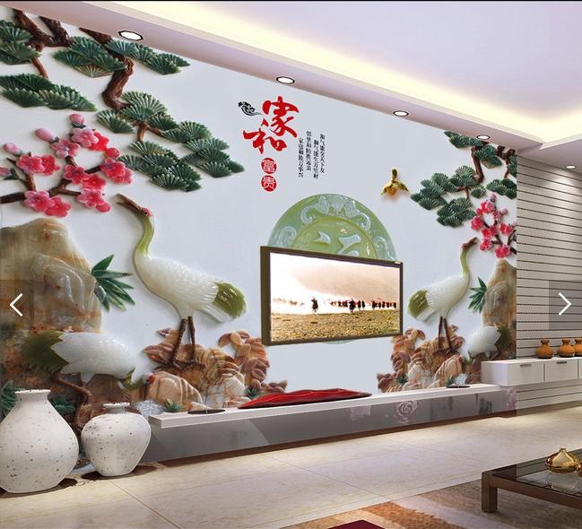 正品保证客厅瓷砖壁画沙发卧室3d电视背景墙