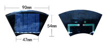 Small Power solar panel 3v120ma solar cell chip multi-purpose charging widget