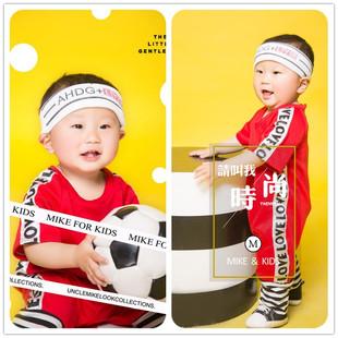 儿童摄影服装 展会新款 春季 影楼拍照服饰 百天1岁宝宝照相童装 韩版