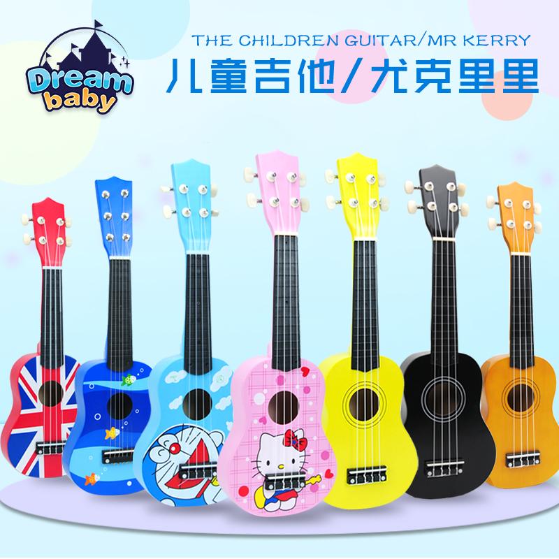 木质儿童吉他玩具尤克里里初学小吉他乐器音乐玩具男女孩生日礼物