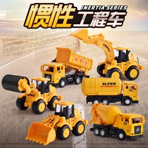 工程车挖掘机儿童玩具车男孩沙滩铲车挖土翻斗惯性小汽车套装模型