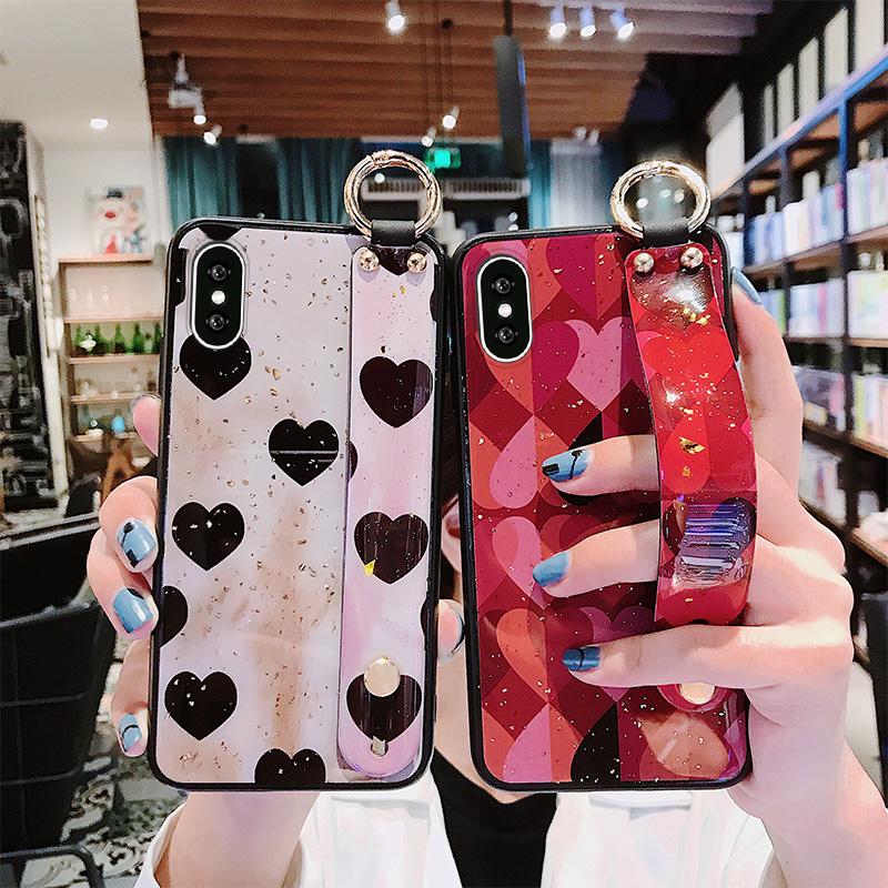 (用3元券)爱心腕带苹果x女6splus苹果手机壳