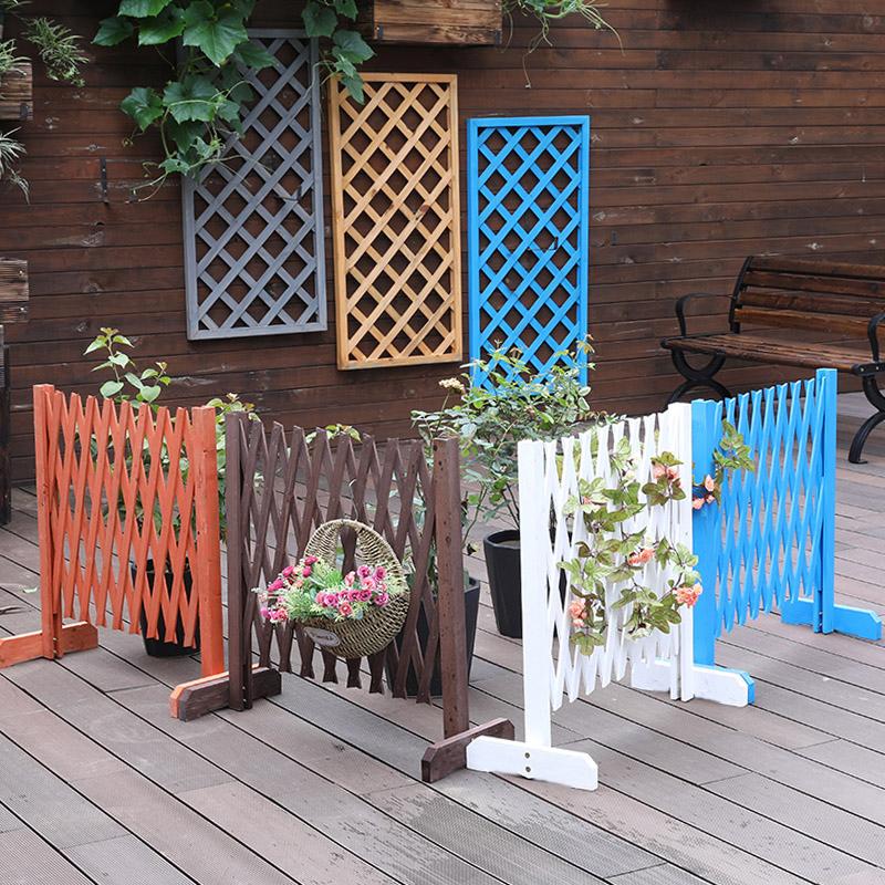户外防腐木隔断室外阳台花园篱笆