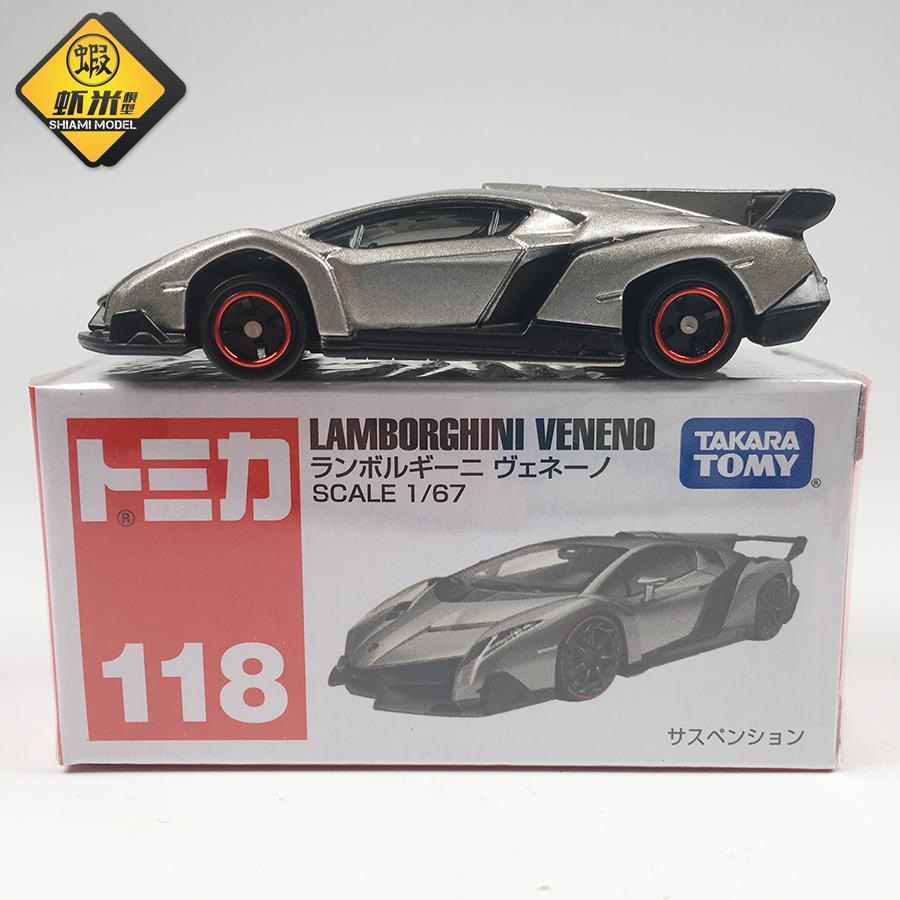 TOMY多美卡TOMICA玩具车118号兰博基尼VENENO合金仿真跑车模型