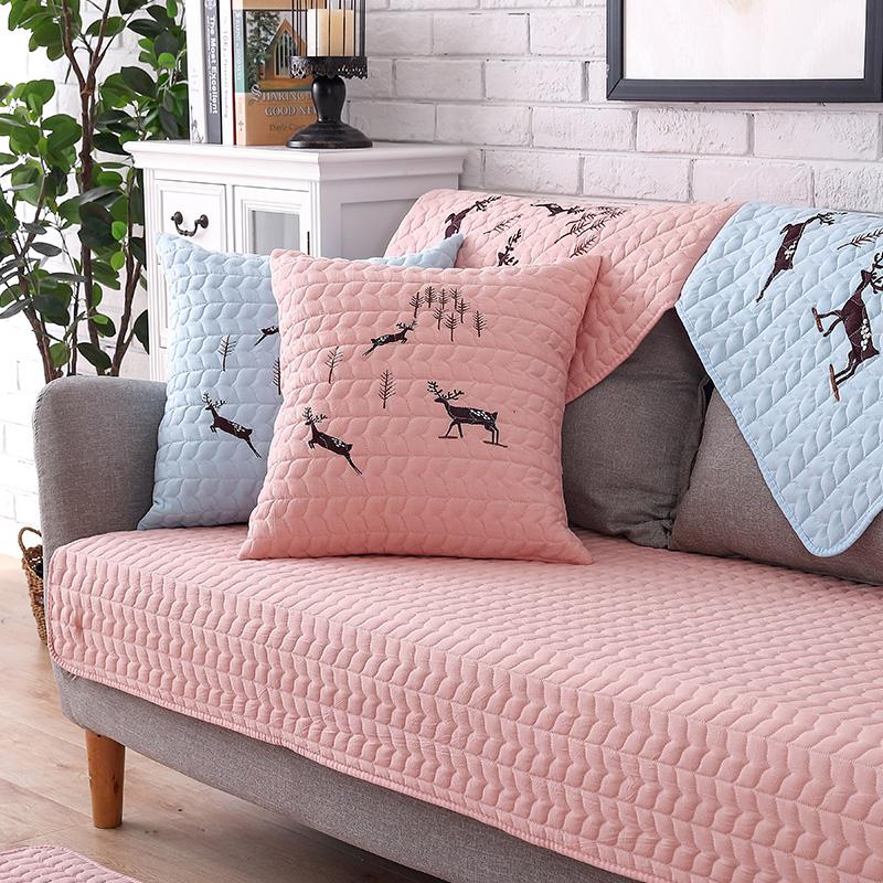 九只猫北欧沙发垫四季通用布艺全棉现代简约防滑坐垫客厅沙发套巾