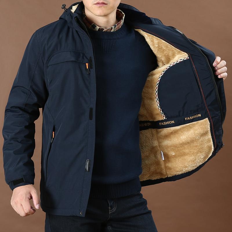 加绒加厚保暖吉普盾户外棉衣男士大码宽松休闲冬季外套速干棉袄潮图片