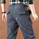 夏季薄款速干裤男士户外休闲裤多袋工装裤宽松直筒冲锋裤子男长裤