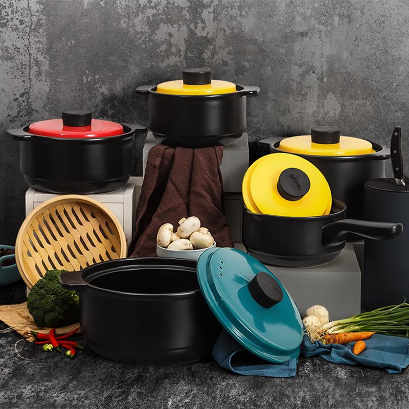 砂锅炖锅家用燃气煲汤锅陶瓷锅沙锅炖汤小砂锅石锅瓦罐煨汤锅