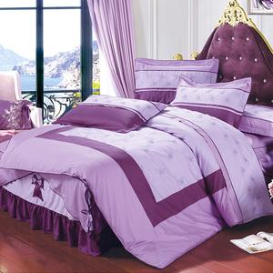 新疆长绒棉春秋夏季被套四件套全棉纯棉床裙款式床上用品被罩家用