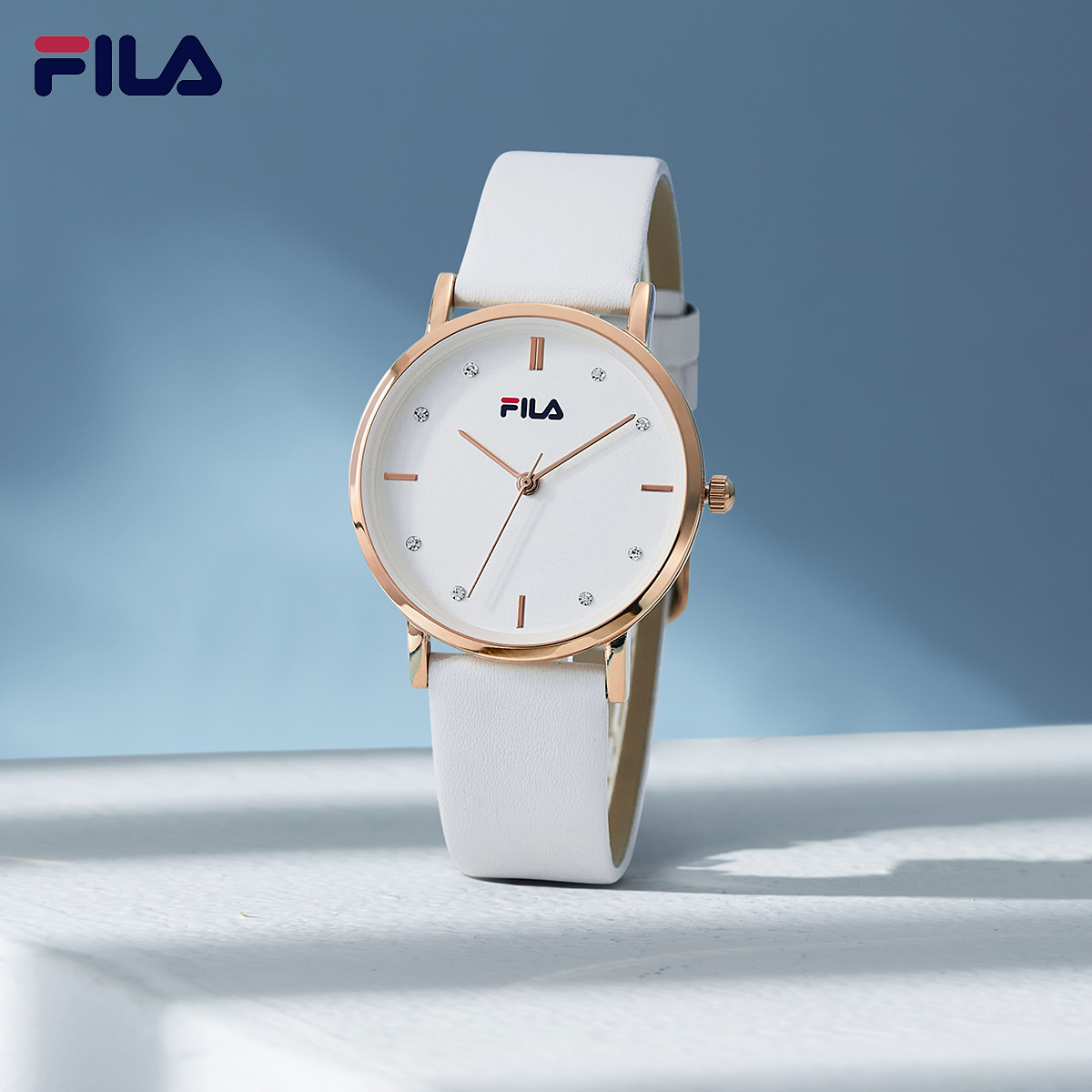 【专属】FILA手表夏季新品女士简约小表盘防水石英腕表6066