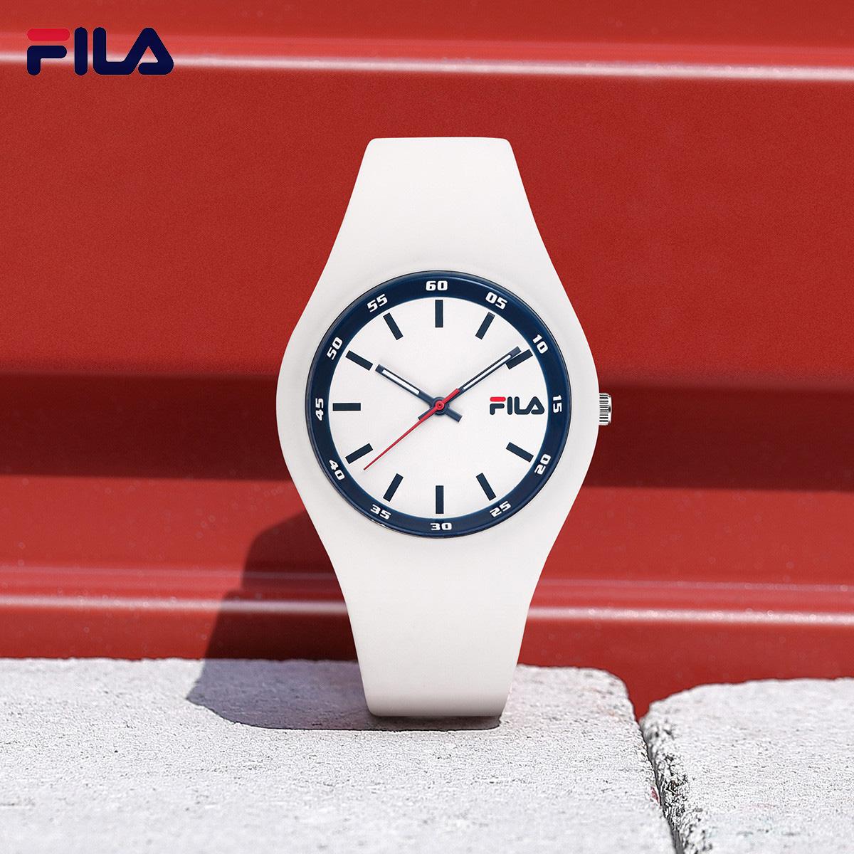 【专属】FILA斐乐手表色彩男女士情侣简约防水小众硅胶腕表6082