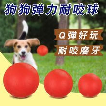 Solid bite-resistant dog toy Golden Retriever pet Teddy molar puppies small large dog supplies training ball