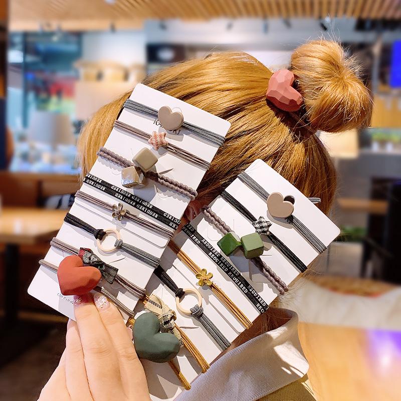 韩国绑头发的橡皮筋女扎头网红森女可爱少女头绳成年韩版ins发圈