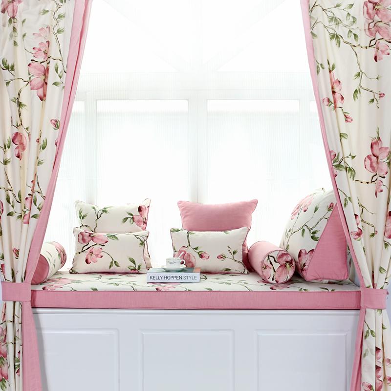 阳台垫子飘窗垫定做榻榻米垫子窗台垫卧室田园高密度海绵订做公主