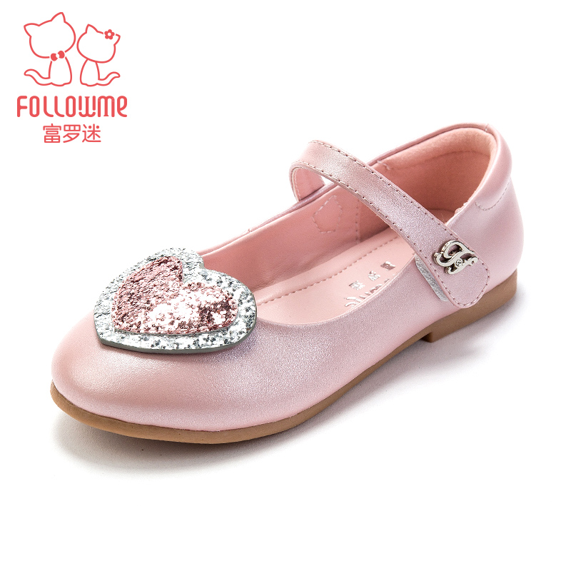 Fuluomi princess shoes girls' leather shoes 2020 spring leather soft sole British middle and big children's single shoes spring and autumn children's shoes