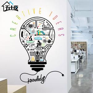 创意个性办公室墙贴企业文化墙辅导班装饰书房宿舍教室教育墙贴画