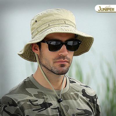 渔夫帽盆帽钓鱼帽子男士防晒帽遮脸夏季奔尼帽大头围遮阳帽户外