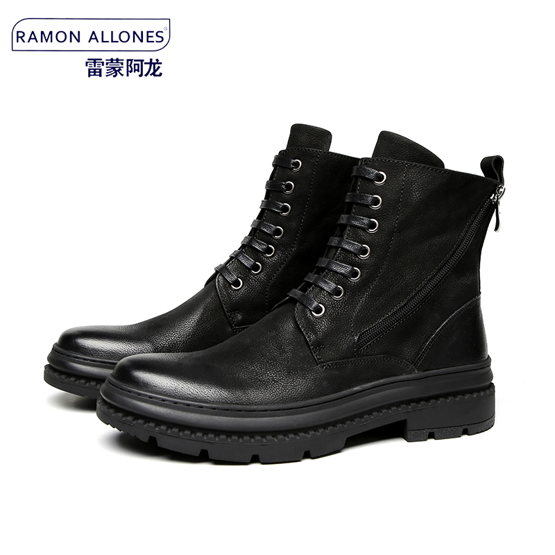 British lace up Chelsea boots short boots high top shoes mens Korean fashion leather fashion casual Martin boots