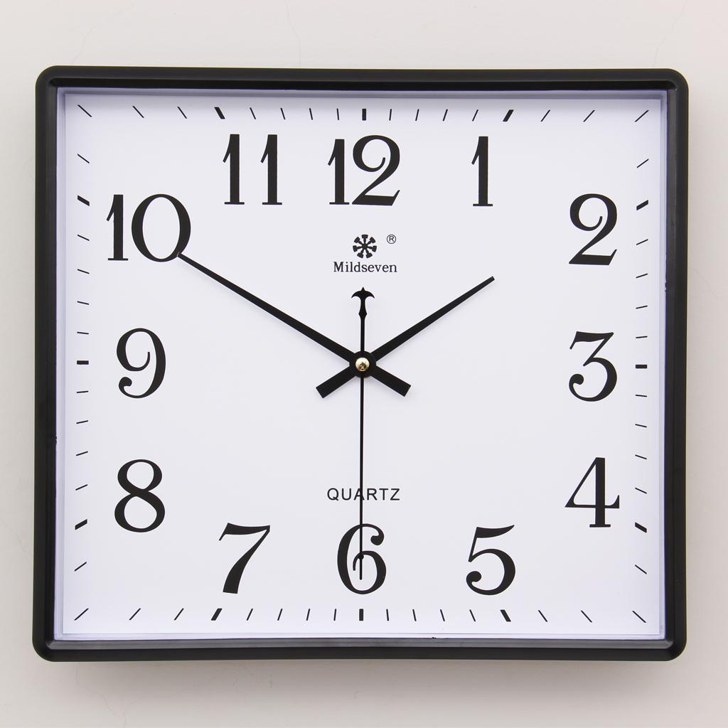 Семь ван син квадрат простой электронный настенные часы гостиная немой часы семья творческий мода искусство вешать стол кварц колокол