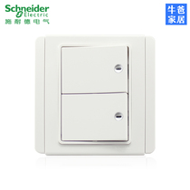Schneider Switch Socket panel alarm switch Dual-turn switch official genuine