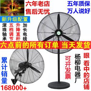 大功率工业电风扇落地强力挂壁机械式家商用大风力烧烤工厂牛角扇