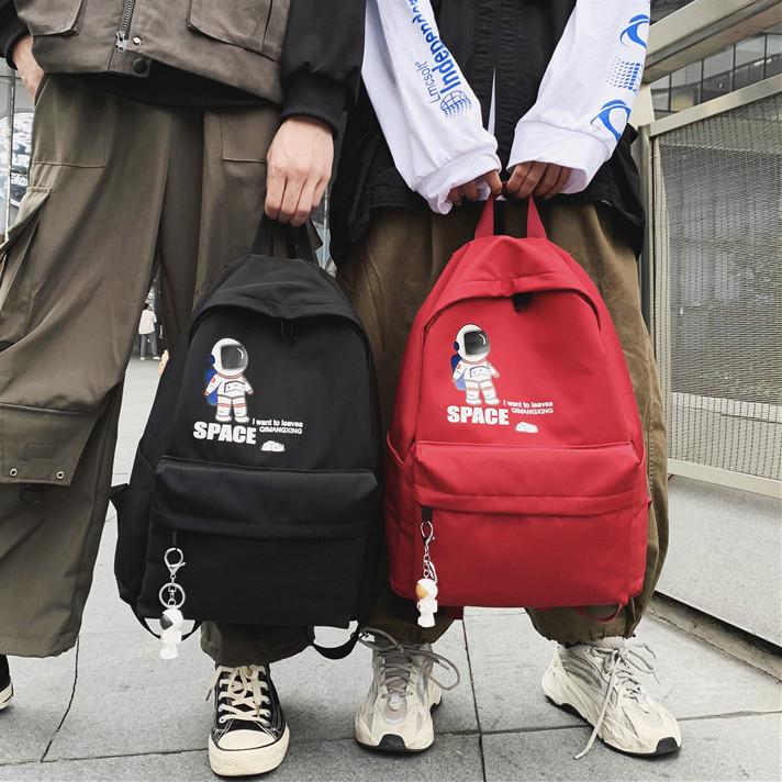 韩版双肩电脑背包男书包女休闲简约时尚潮流百搭高中大学生旅行包