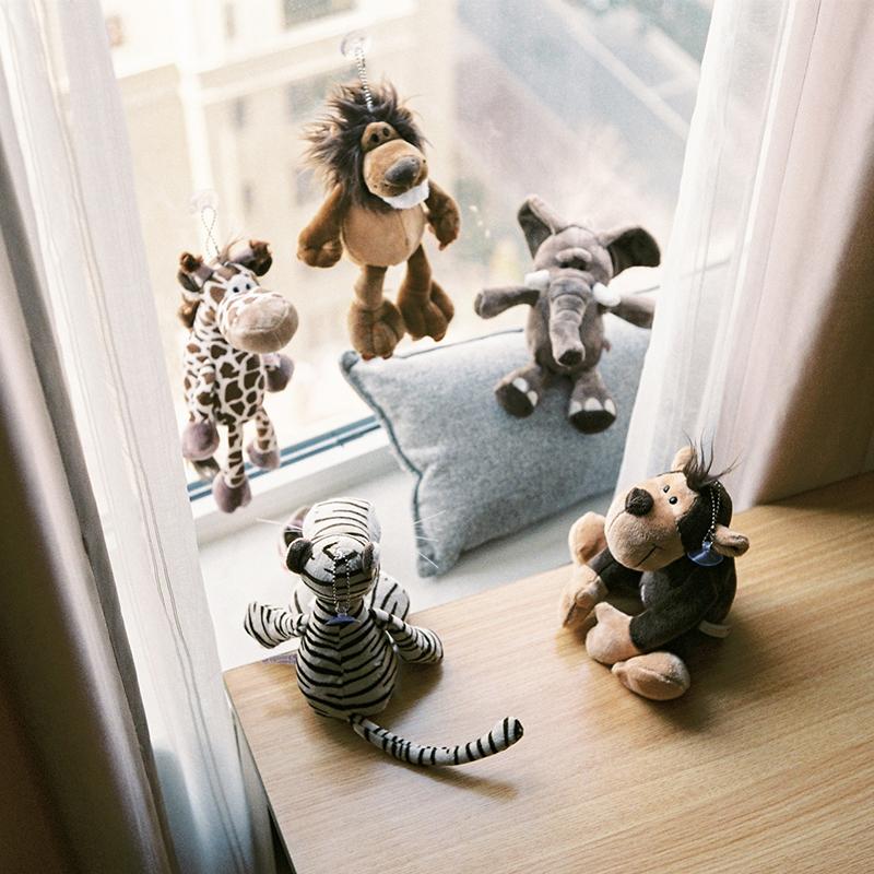 nici公仔毛绒玩具狮子长颈鹿象礼品婚庆娃娃女生儿童可爱丑萌玩偶